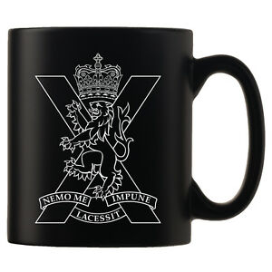 The-Royal-Regiment-of-Scotland-Personalised-Black-Satin-Mug