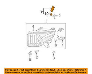 5318360090 Genuine Toyota SEAL RH 53183-60090 HEADLAMP COVER