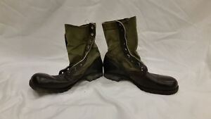 1965-CIC-AUTHENTIC-VIETNAM-SPIKE-PROTECTIVE-GREEN-JUNGLE-BOOTS-10-N-HOT-WEATHER