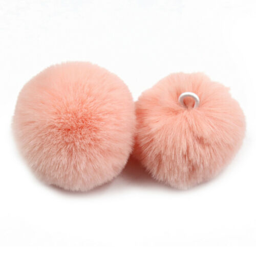 4X 5cm Faux Fox Pom Pom Ball Ball Pom Accessory for Keychain Beanie Xmas DIY  HK