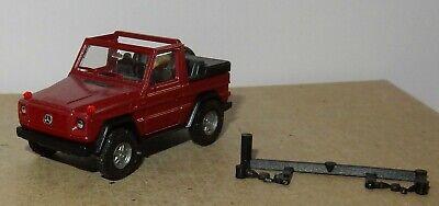 Herpa Ho 1//87 Mercedes-Benz G 300 Ge 4X4 Cabriolet Wine Red Metal No Box