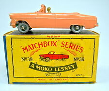 "Matchbox RW 39A Ford Zodiac pink rare SILBERNE Räder top in ""B"" Box"