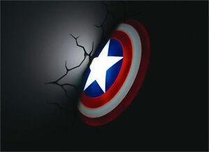 Marvel avengers captain america shield 3d fx deco led nightlight la foto se est cargando marvel los vengadores capitan america escudo 3d fx aloadofball Images