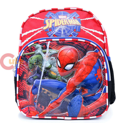 "Marvel Spiderman Toddler Backpack 10/"" Spider man Small Mini School Bag"