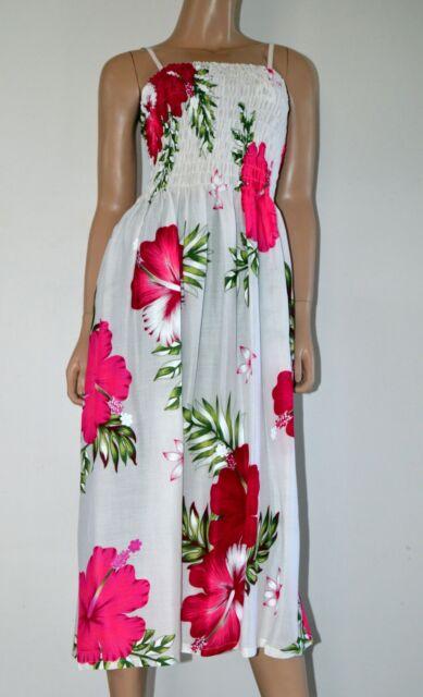 NEW Rayon Shirred Spaghetti Strap Summer Dress Floral Patterns Prints- Free Size