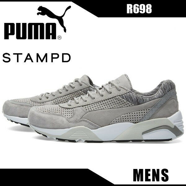 PUMA hommes R698 X STAMP'D DRIZZLE [358736 01] SIZE 11&13 RUNNING Chaussures