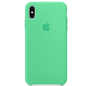 Echt-Original-Apple-iPhone-XS-Silikon-Huelle-Silicone-Case-Spearmint-Minzgruen