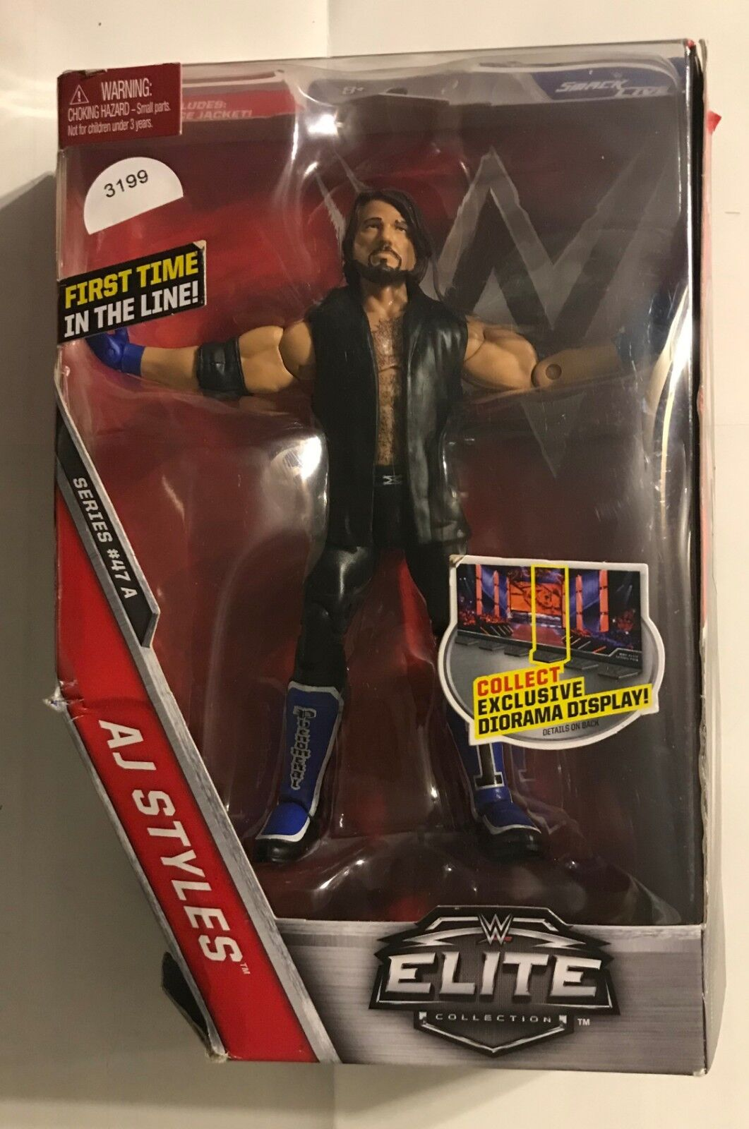 2016 WWE  ELITE COLLECTION  SERIES A  A J STYLES  ACTION FIGURE