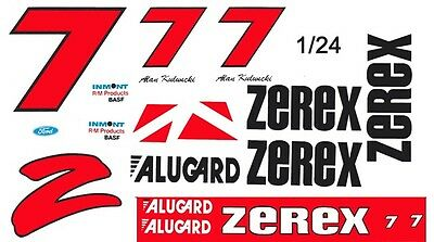 #7 Alan Kulwicki Zerex Ford Thunderbird 1/25th 1/24th Scale Decals To Have Both The Quality Of Tenacity And Hardness Toys & Hobbies Decals