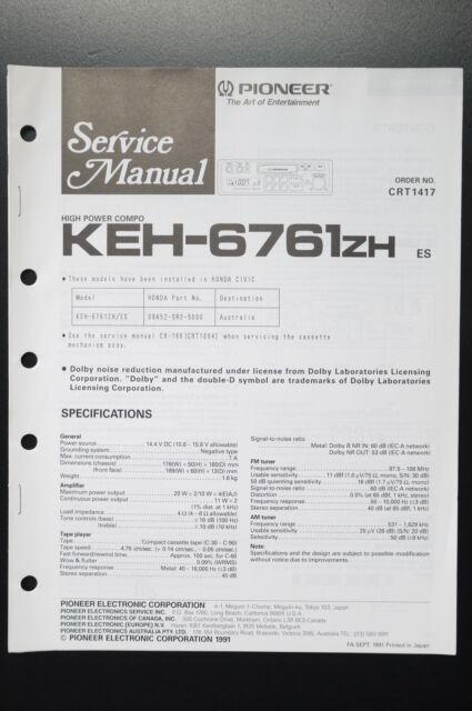Pioneer Keh Service Manual  Wiring Diagram  O1