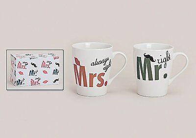 Becher Mr/&Mrs aus Papier gold-weiß 200ml 10 Stück Hochzeitsparty Geschirr