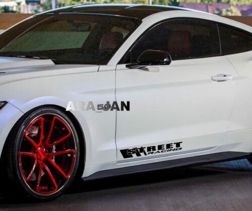 STREET RACING Decal Sticker sport car logo door emblem motorsport performance