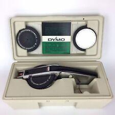 Vintage Dymo 1570 Labeling Kit 3 Wheels Handheld Label Writer Original Case Read