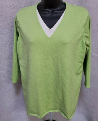 White Stag Womens Apple Green Layer LOOK Sweater T