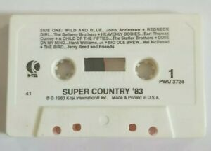 Super Country 83 Audio Cassette Tape No Inlay 1983 K-tel International