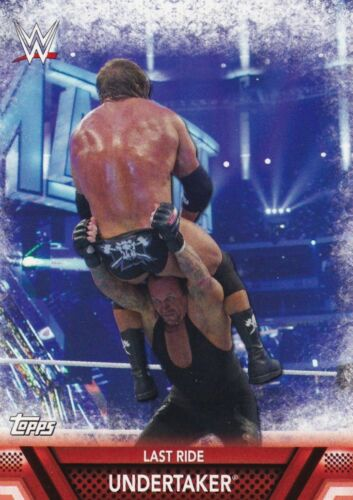 Finishers #f-12 Undertaker 2017 TOPPS WWE Then now Forever Cox