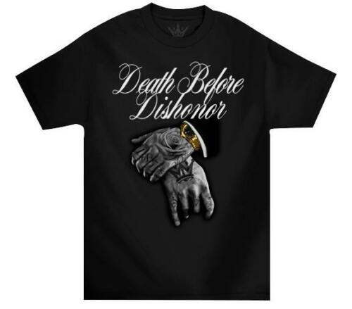Mafioso Death Before Dishonor B4 Black Hip Hop Crewneck Adult Mens T Tee Shirt