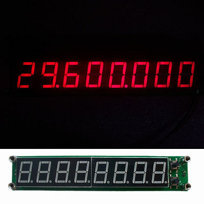 Blue PLJ-8LED-R 0.1MHZ 2.4GHz RF Signal Frequency Counter Cymometer Tester