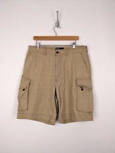 Polo-Ralph-Lauren-Cargo-Shorts-Men-Size-36-Beige-Tan-Khaki-Chino-Cotton