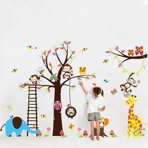 Adesivi Da Parete Per Bambini.Dettagli Su Fai Da Te Animale Carino Adesivi Da Parete Per Bambini Stanze Decorativo