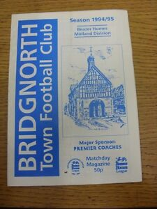 17-12-1994-Bridgnorth-Town-v-Nuneaton-Borough-Faint-Marks-Footy-Progs-Bobfra