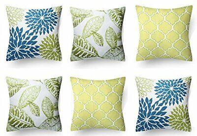 Fine Cotton Floral Throw Pillow Cushion Cover Case Sofa Decor 18 18 6 Piece Ebay