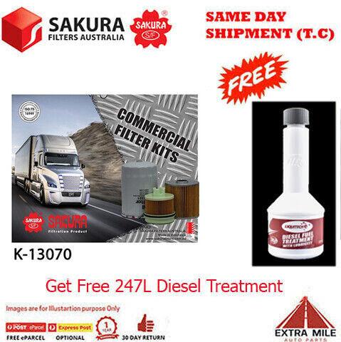 SAKURA Commercial Filter Kit For HINO 300 716 XZU417R  4.0L 2007-2011