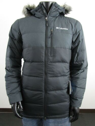 Neuf avec étiquettes pour homme COLUMBIA Northridge Lodge Down Veste à capuche hiver fourrure Parka-Noir