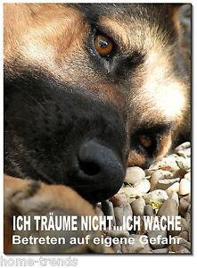 Schäferhund-hund-aluminium-schild-0,5-3 Mm Dick-türschild-warnschild-hundeschild Auf Dem Internationalen Markt Hohes Ansehen GenießEn Haustierbedarf