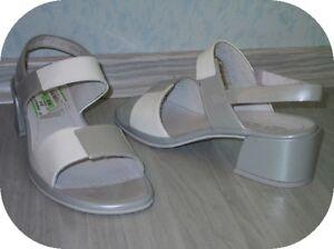 Weiß Grau Neu Bequem Leder 38 Rohde Sandalette Damenschuh Sehr Gr wnA7YaXxq