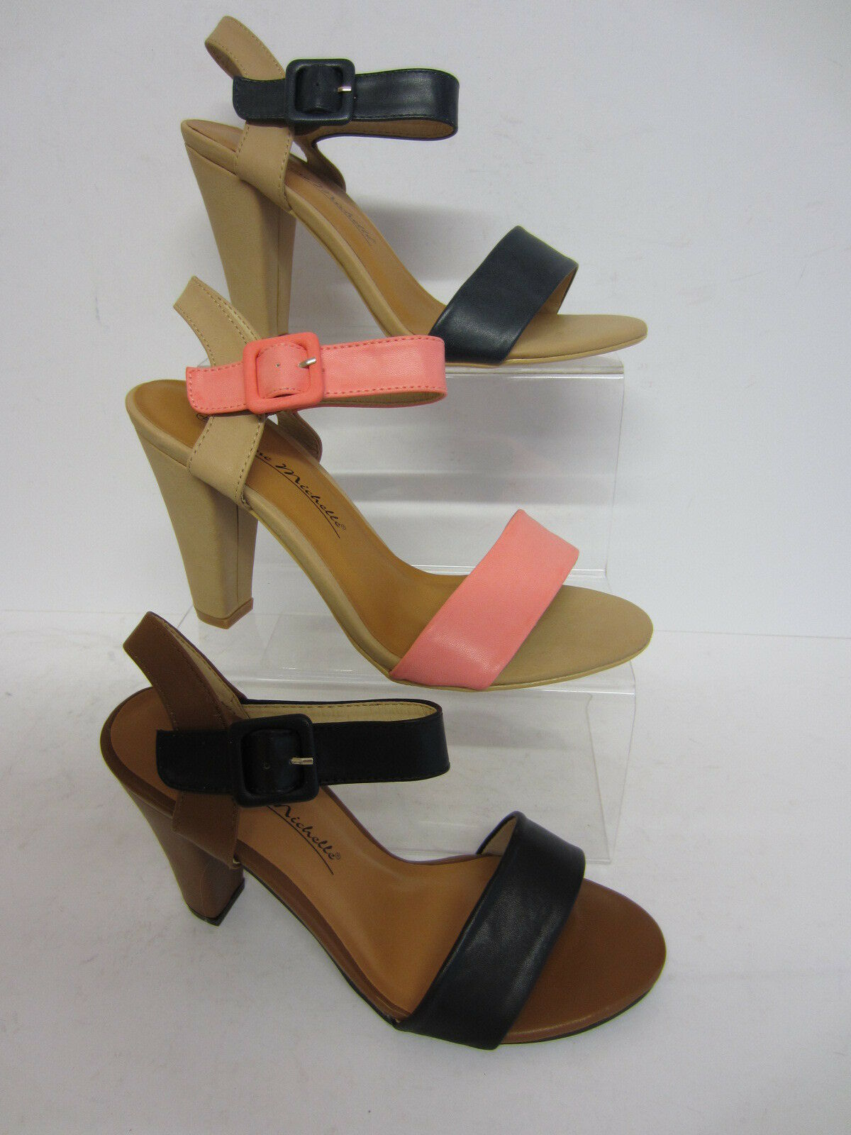Anne Michelle L3403 or Ankle Strap Sandals Pink or L3403 Black (R9A) 03ad26