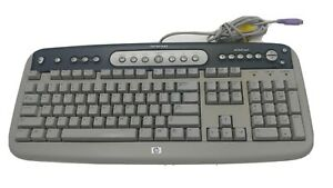 Genuine-HP-SK-2560-Gray-PS-2-Wired-Internet-Computer-Keyboard-P-N-5185-1596