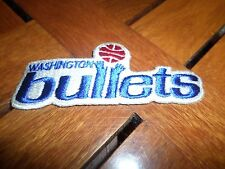 Vintage NBA Washington Bullets Patch 4 1/2 Inches Iron on