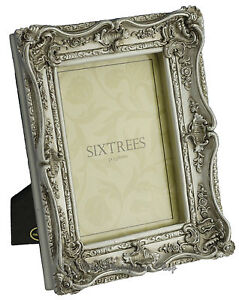 Shabby-amp-Chic-Vintage-Very-Ornate-Antique-Silver-Photo-frame-for-a-7-034-x5-034-Picture