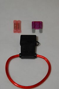 8 Gauge MAXI Inline Fuse Holder Waterproof Cover with 40A Fuse /& Butt Connectors