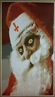 Satan Claus Giant Long 42x 24 Poster Christmas Santa Holiday Gift Evil Krampus