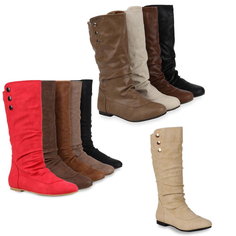 Flache Damen 70442 Stiefeletten Nieten Stiefel Lederoptik zapatos 70442 Damen Gr. 36-41 Top 043a70