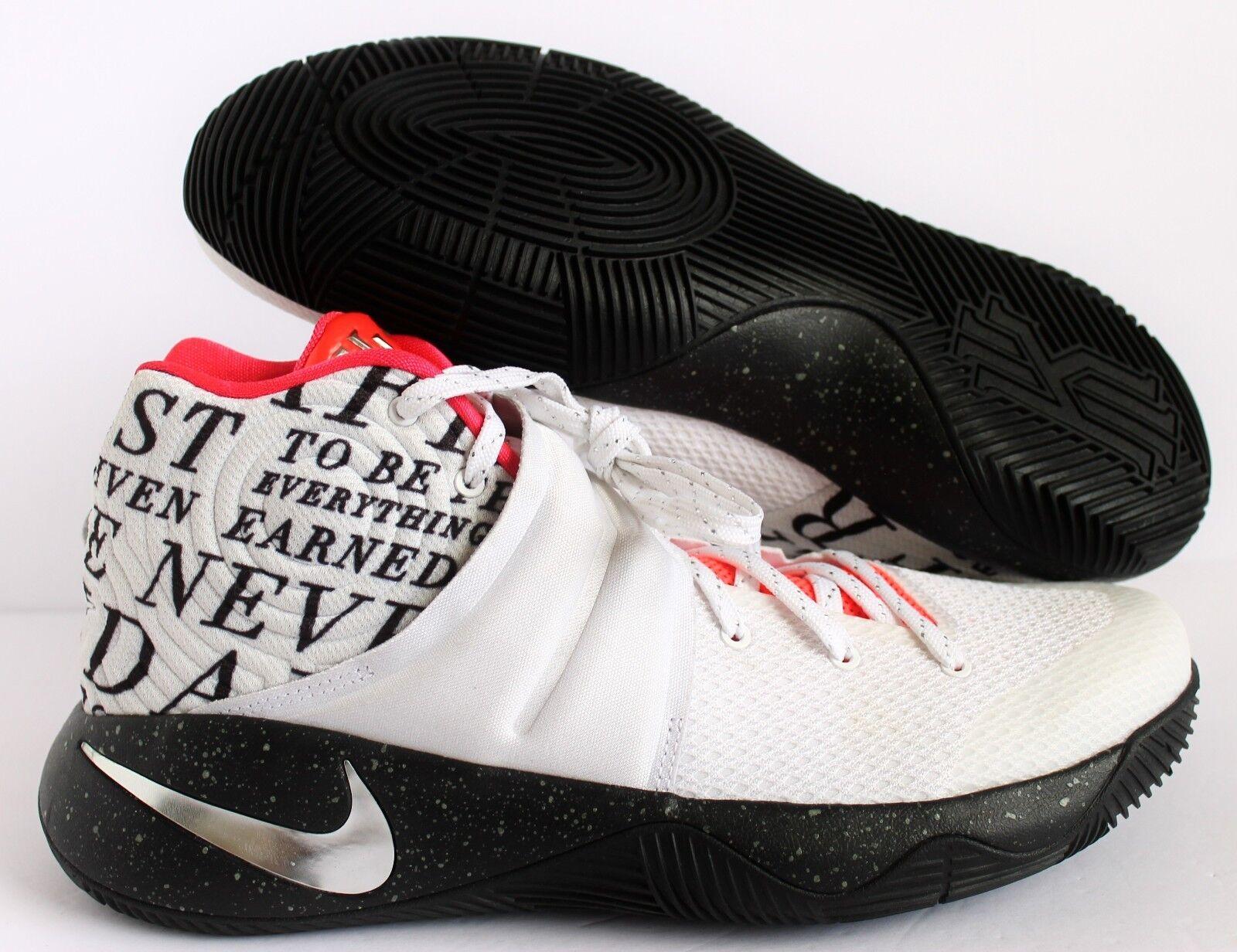 7b32eff3766a5 Nike Hombres Kyrie 2 ID blanco-negro-Carmesí-Plateado blanco-negro ...