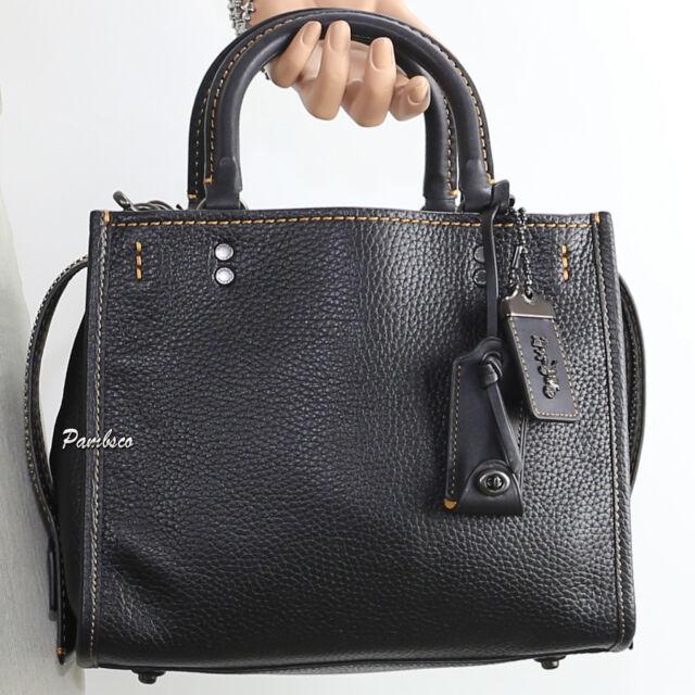 Coach 1941 Black Rogue Bag 25 Satchel Handbag Style 54536