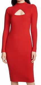 Wow! New Tags Victor Glemaud Red Wool Cut Out Dress $645 Sz Sm Lg (no Tag)