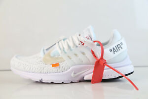 100% authentic 237f4 a8fb7 Image is loading Nike-Air-Presto-Off-White-Virgil-Abloh-White-