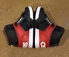 KIDS BOYS OSIRIS NYC 83 SKATEBOARDING SHOES NIB BLACK WHITE GREY