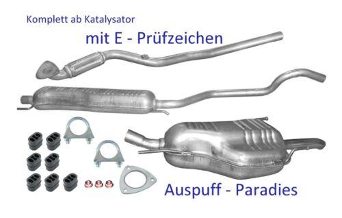 06//2003 Auspuff Opel Zafira A Abgasanlage ab Kat F75/_ 1.6i 16V ab Bj Kit