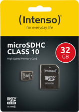 Artikelbild Intenso Micro SD Card 32GB Class 10 inkl. SD Adapter NEU OVP