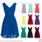 Short Gown Bridesmaid Wedding Party Prom Formal Evening Cocktail Dress Size 6-22