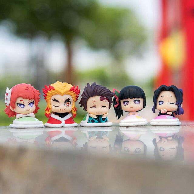 New Loose 5pcs//set Anime Demon Slayer:Kimetsu no Yaiba PVC Figure Sleeping Doll