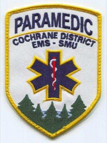 Cochrane District Emergency Medical Services EMS SMU Paramedic Patch Canada ON