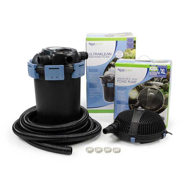 Aquascape Ultraklean 3500 Filtration Pond Kit 95060 For Sale Online