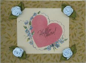 VINTAGE-PINK-HELLO-HEART-FORGET-ME-NOT-PRINT-ROSES-ON-ANTIQUE-PAPER-ACEO-SIZE