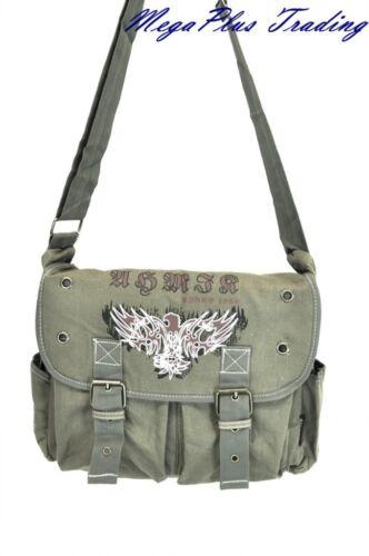 Ahmik Casual Canvas Messenger Book Bag BMT-3284 Green